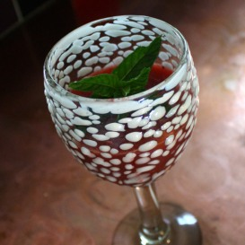 Summer Strawberry Daiquiri with a Hint of Mint