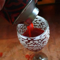Pouring the Daquiri